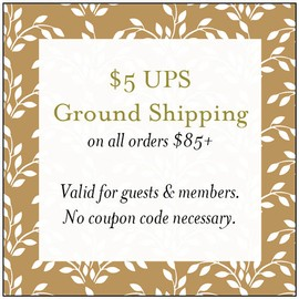 $5 UPS ground shipping on all orders over $150. Valid for guests and members, no coupon code necessary.